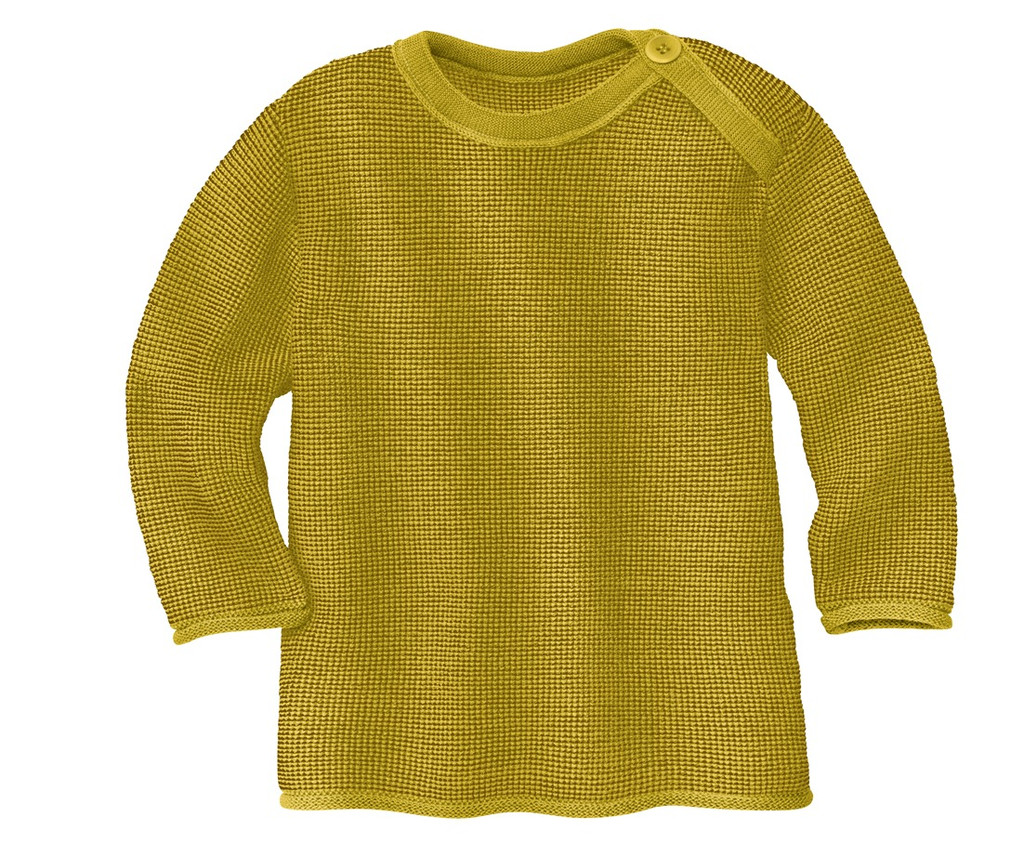 Disana Organic Wool Melange Sweater Color: 978 Curry Gold