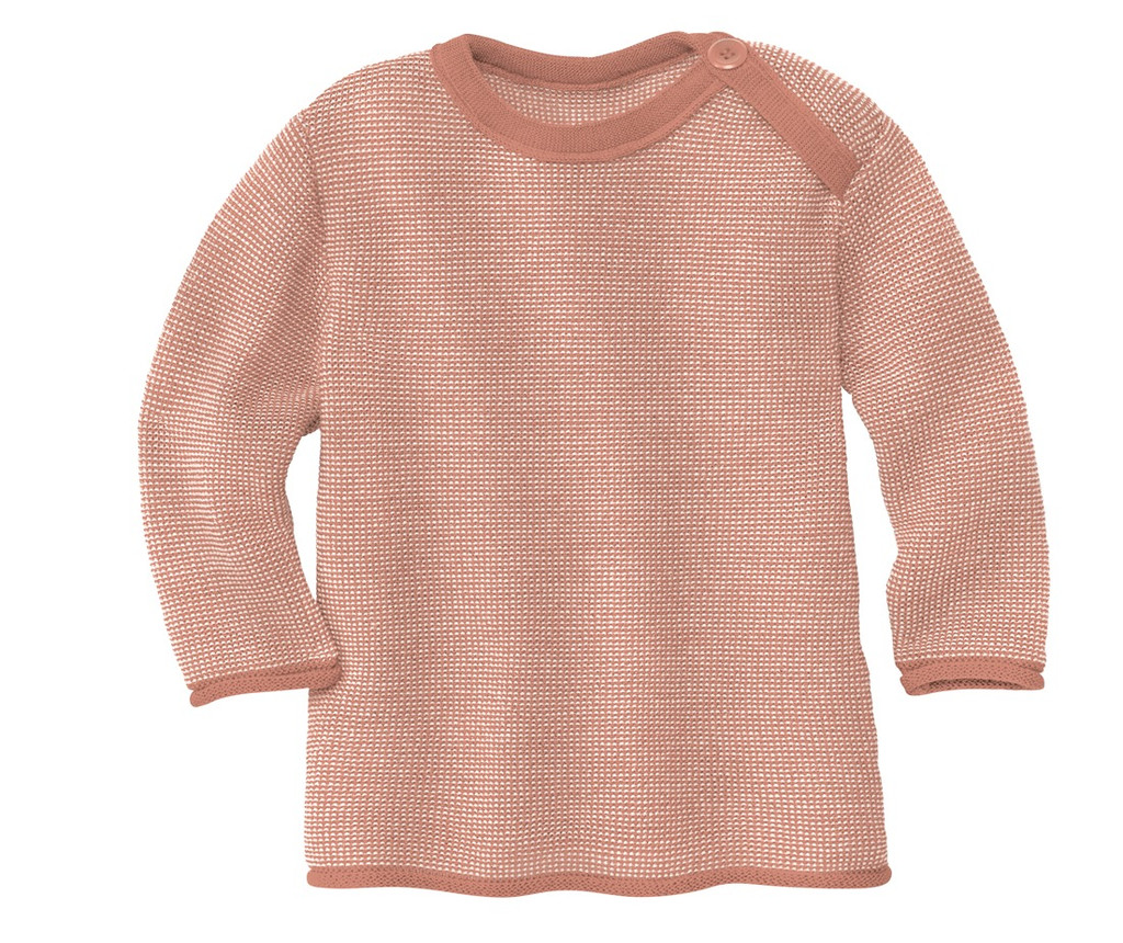 Disana Organic Wool Melange Sweater Color: 931 Rose Natural