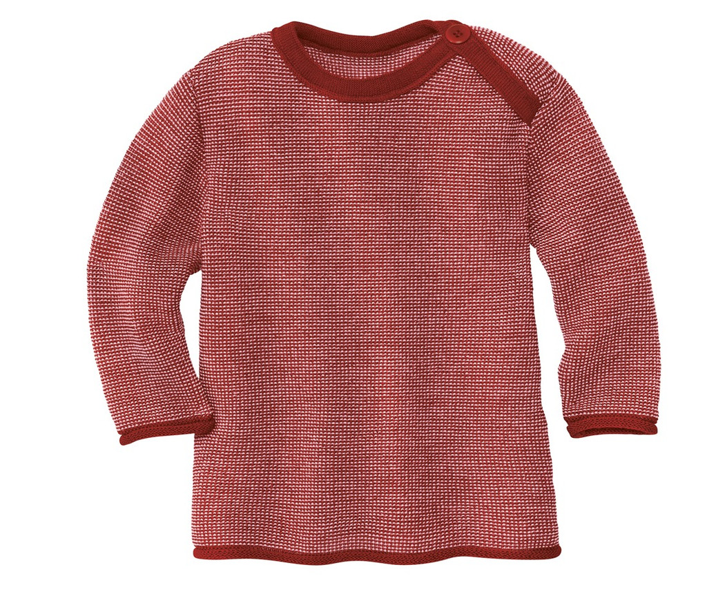 Disana Organic Wool Melange Sweater Color: 933 Bordeaux Rose