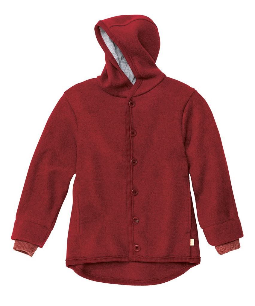 Disana Organic Boiled Wool Jacket Color: Bordeaux
