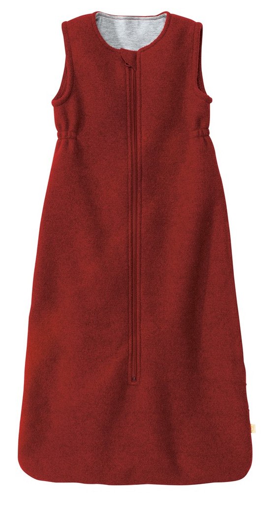 Disana Boiled Wool Sleep Sack Color: Bordeaux