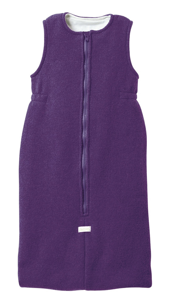 Disana Boiled Wool Sleep Sack Color: Plum