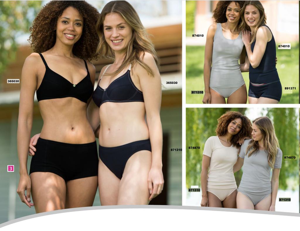 Ladies' bikini briefs, drop stitch