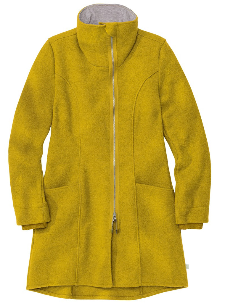 Disana Organic Boiled Wool Women's Coat Color: Curry