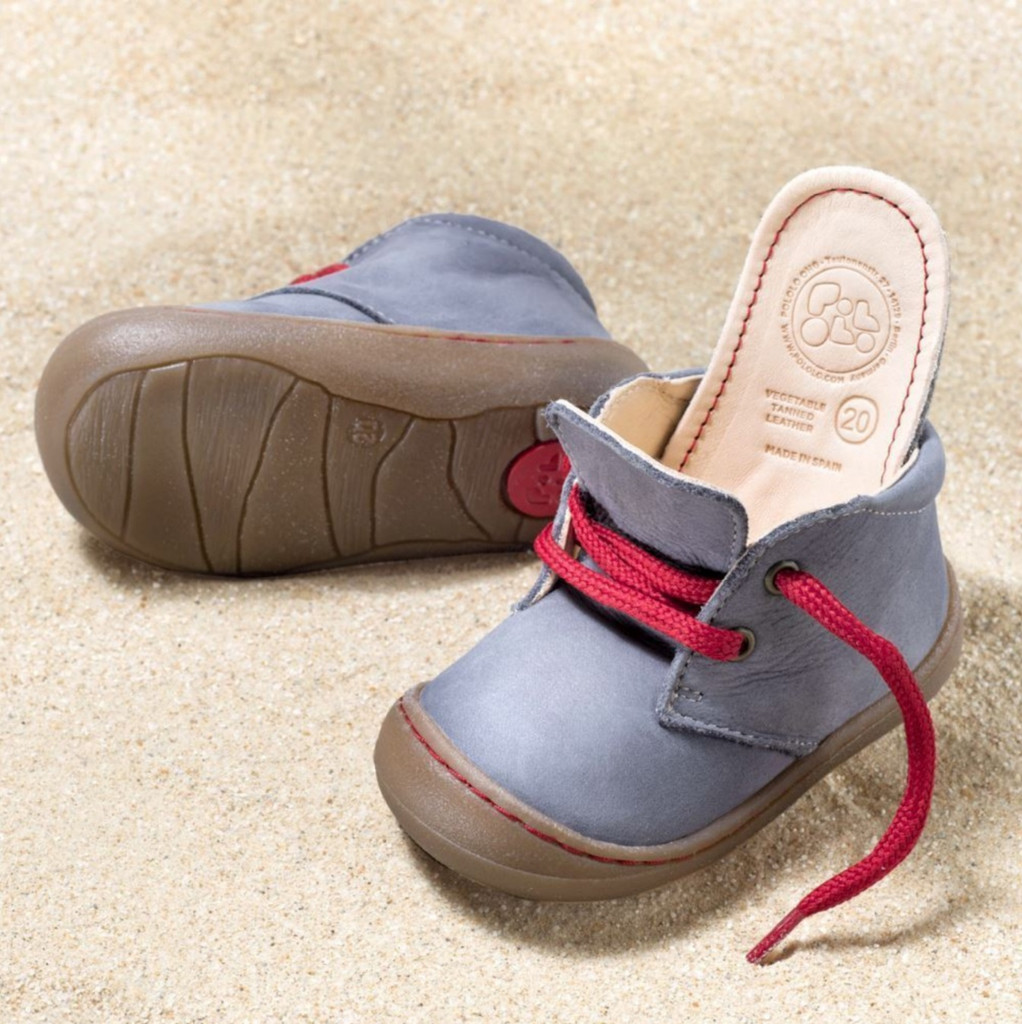 "Natural Leather Children's Shoes - ""JUAN"" Color: Graphit"