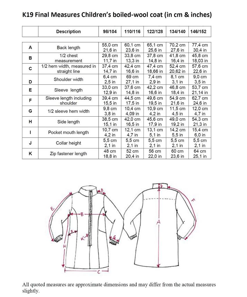 Disana Organic Boiled Wool Children's Coat