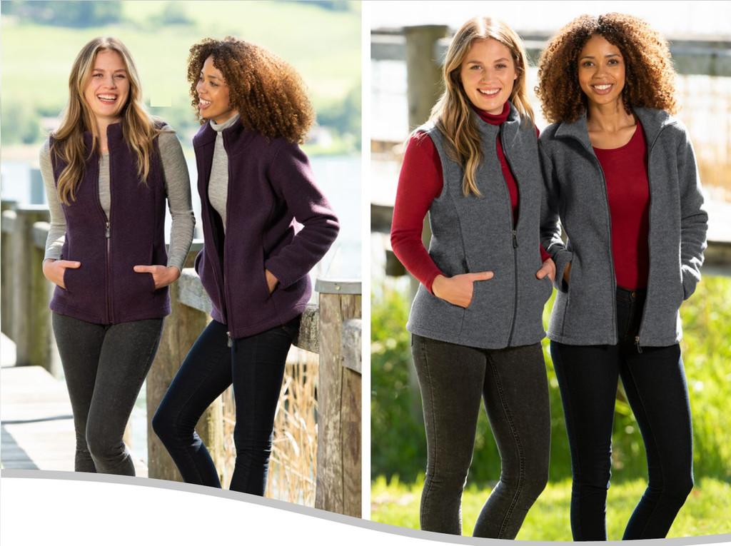Organic Thick Wool Fleece Women's Vest