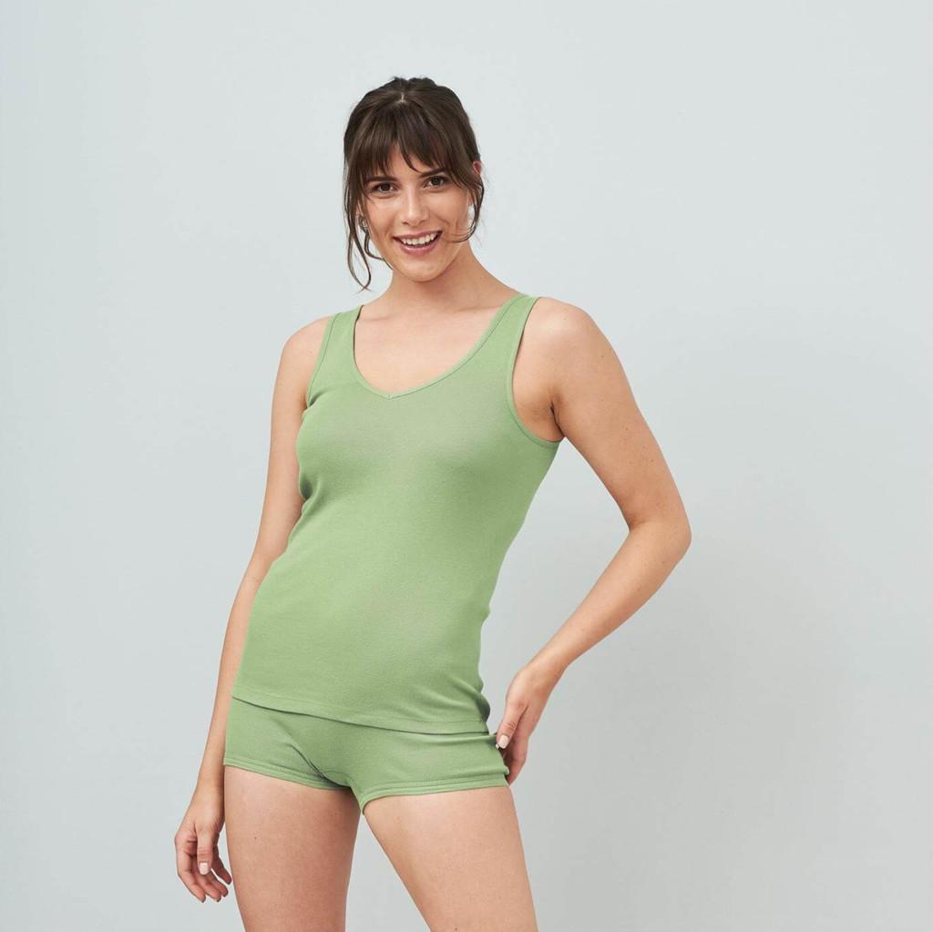 Women's Organic Cotton V-neck Sleeveless shirt