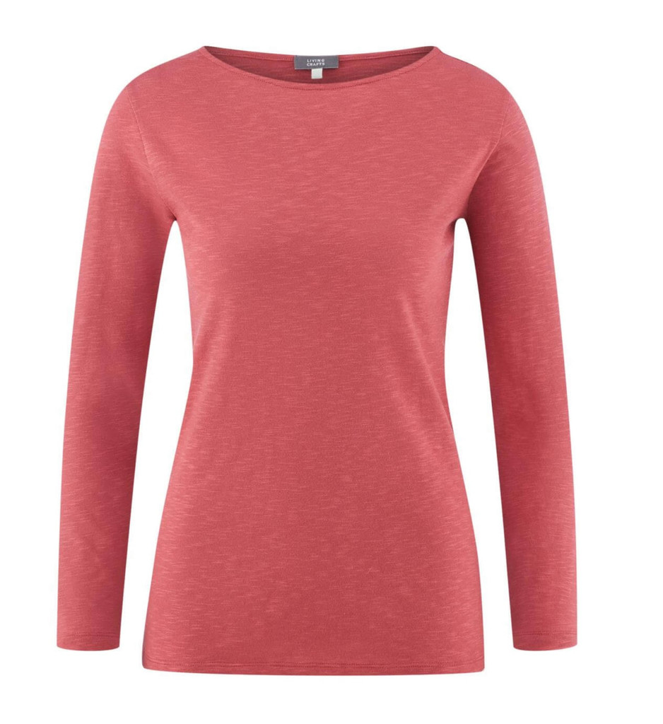 Women's Organic Cotton Long Sleeved Shirt Color: 529 dusty rose