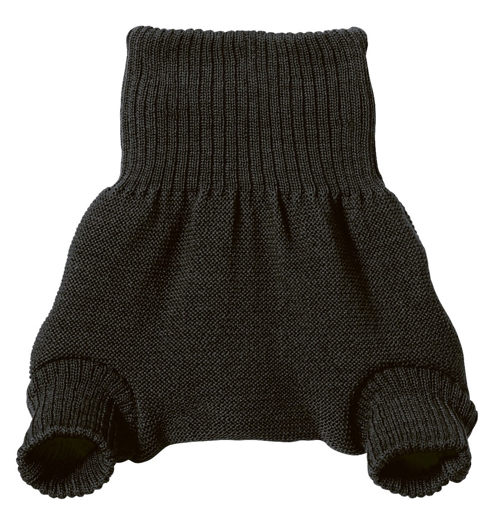 Organic Merino Wool Diaper Cover Color:  Anthracite