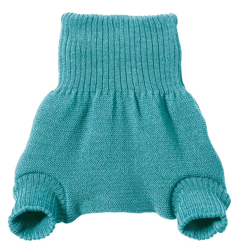 Organic Merino Wool Diaper Cover Color:  Lagoon