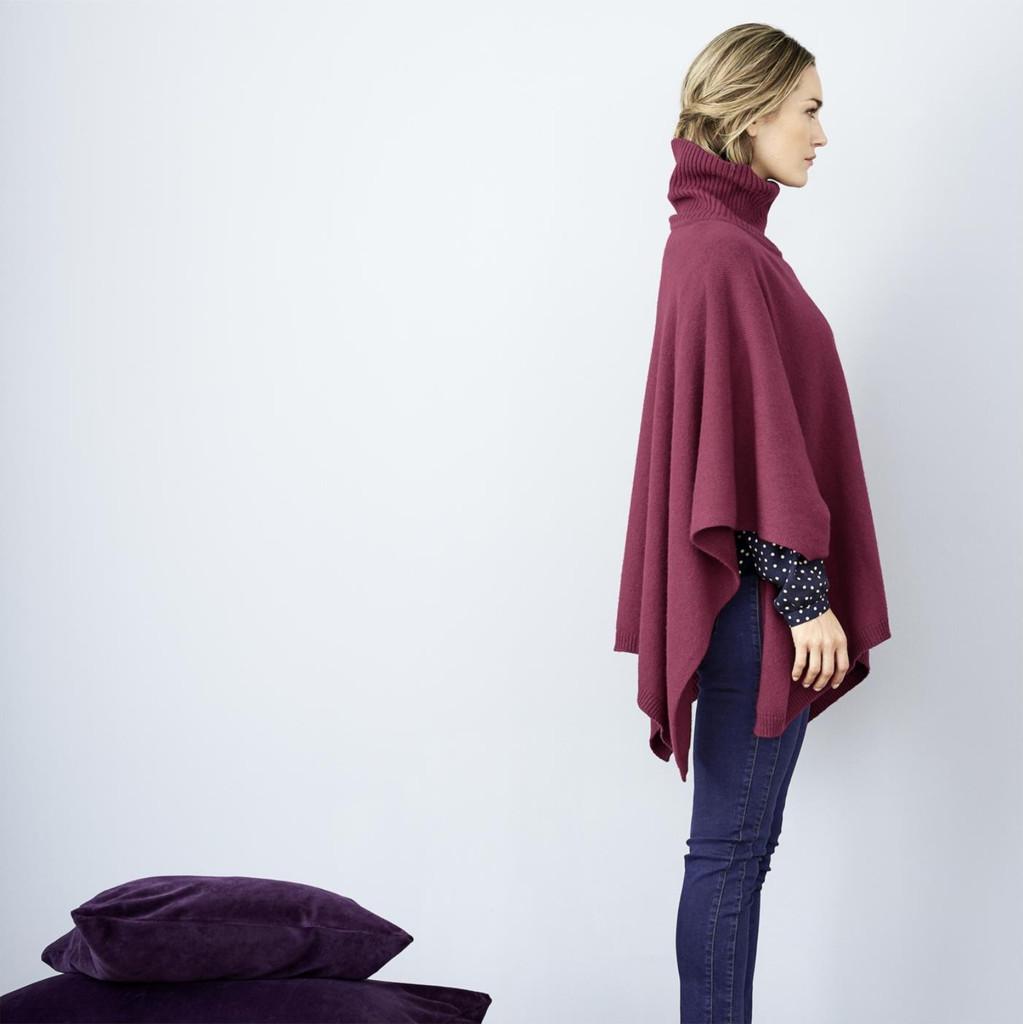Women's Organic Wool Cotton Poncho