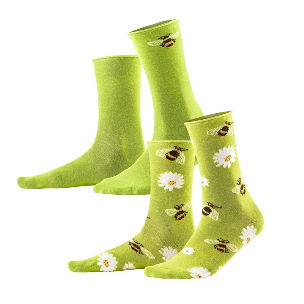 Women's Organic Cotton Socks Color: 40 green