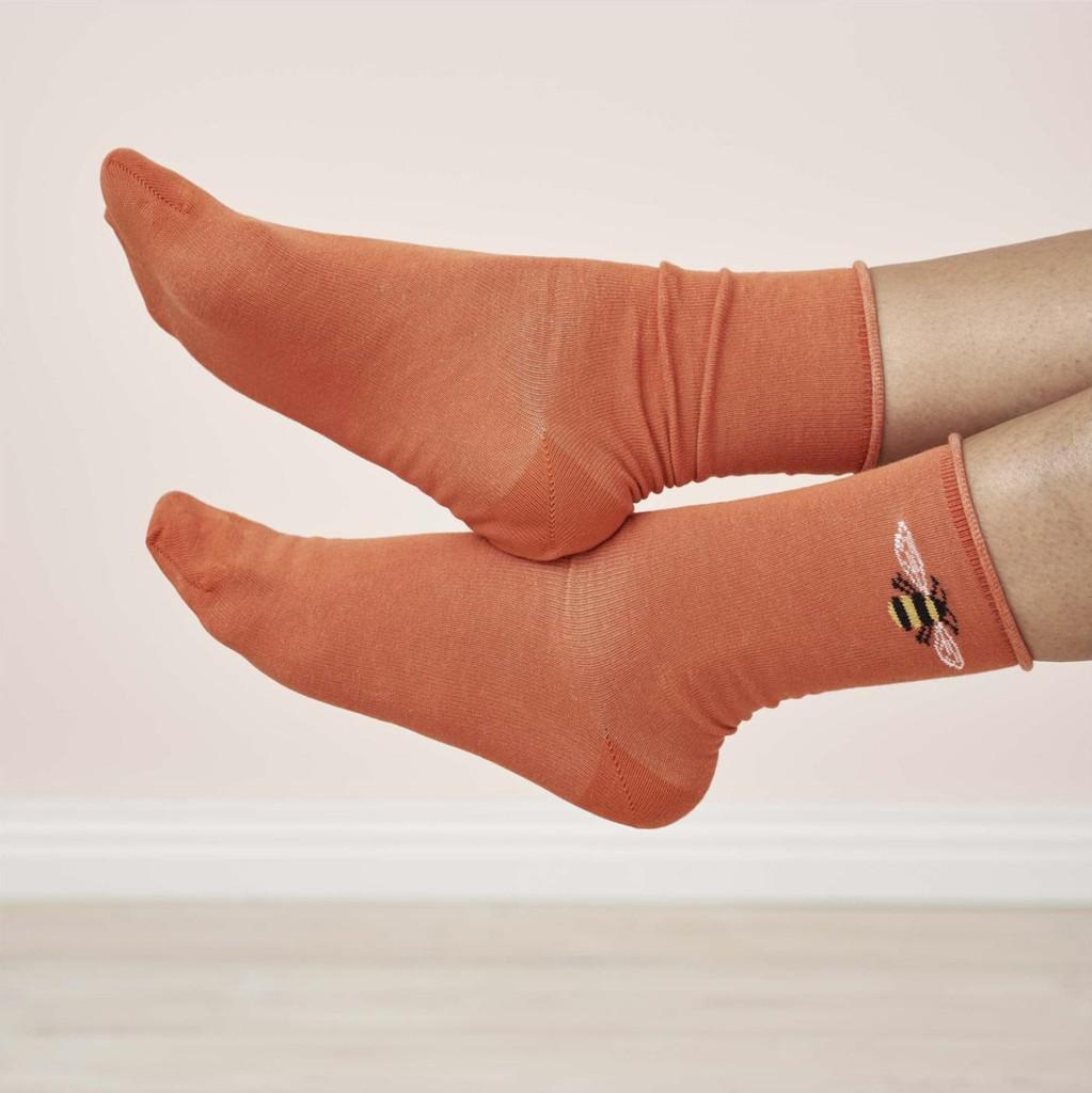 Women's Organic Cotton Socks Color: 39 coral