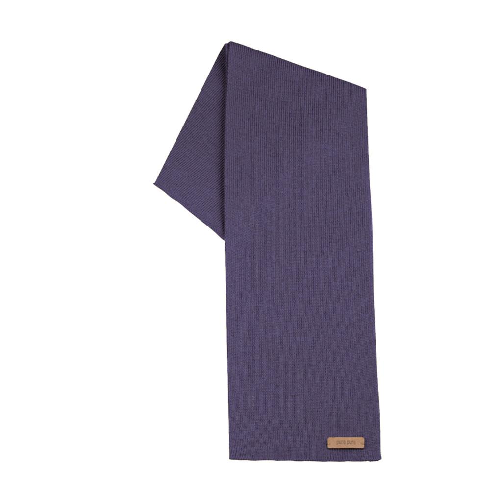 Organic Merino Wool, Cotton, Kids scarf  Color: purple velvet