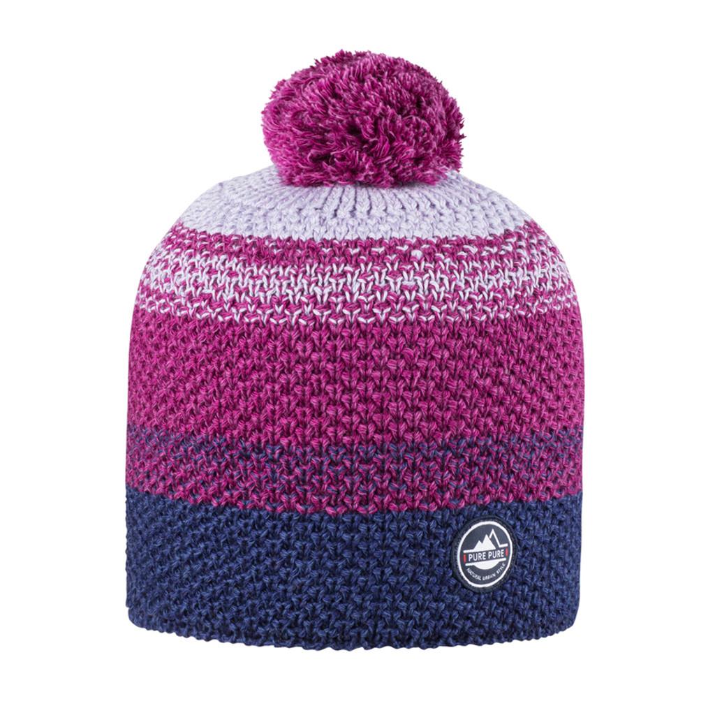 Organic Merino Wool, Cotton, Silk Hat Color: 304 blue print