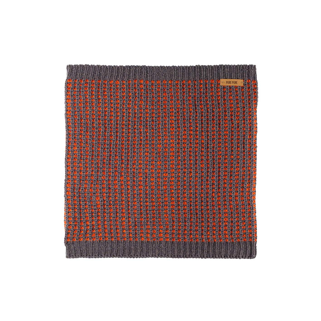 Organic Merino Wool Silk Neck Warmer  Color: 96-2 slate grey