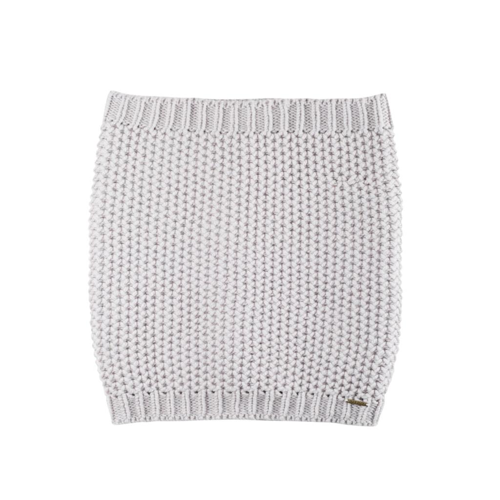 Women Organic Merino Wool Neck Warmer Color: 95 Grey