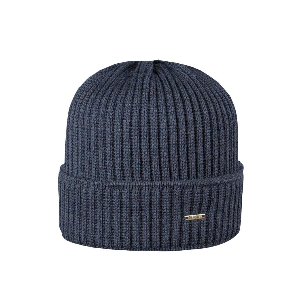 Organic Marino Wool Men Hat Color: 30 navy-blue