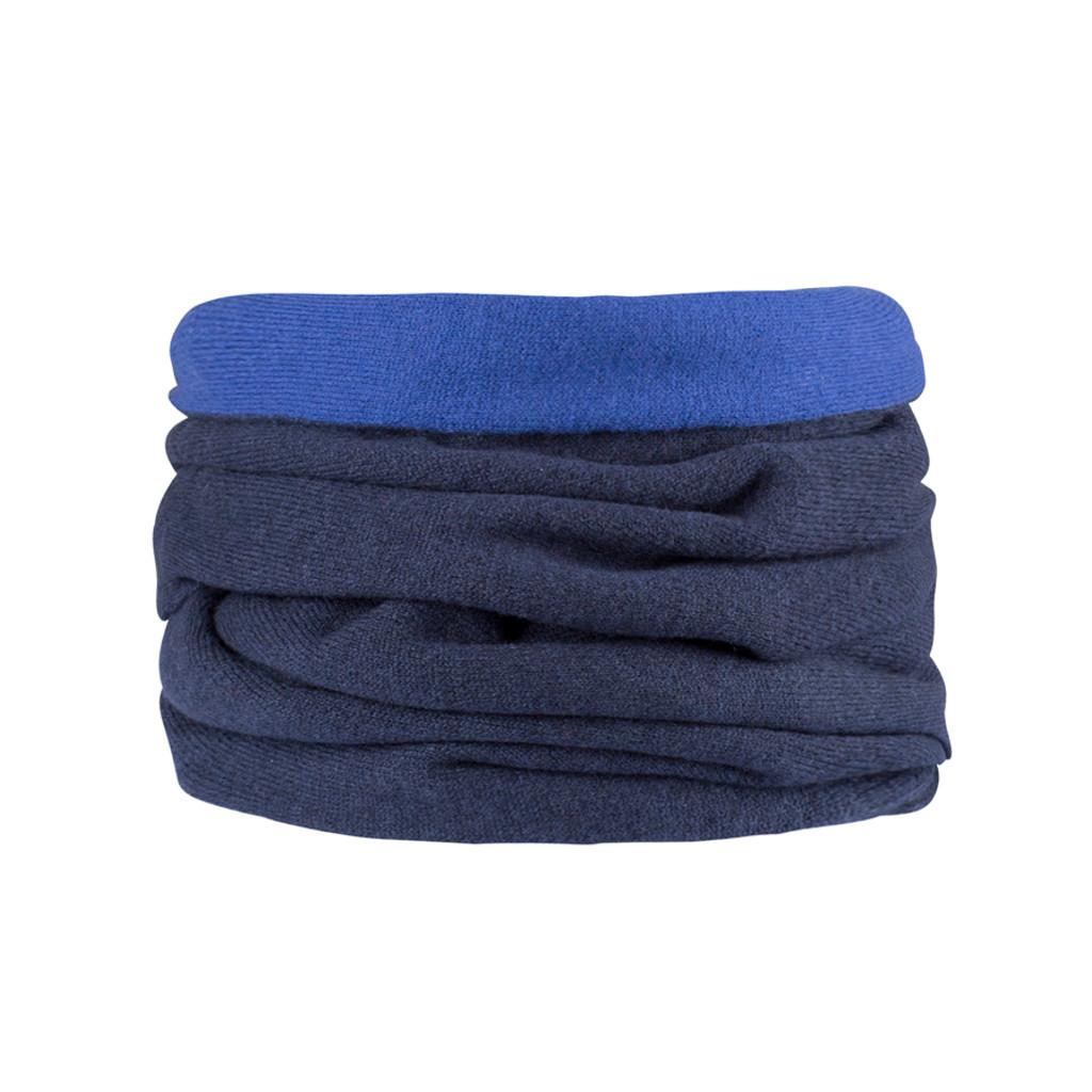 Organic Merino Wool cashmere loop scarf Color:  301 dark ink