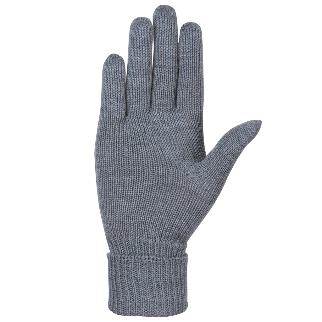 Organic Merino Wool Ladies Gloves Color: 93 silver grey