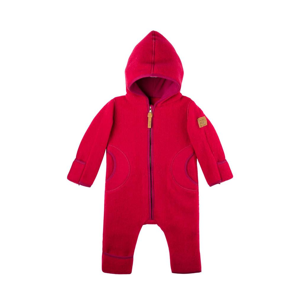 Organic Merino Wool Baby Bunting Color: 272 rasperry