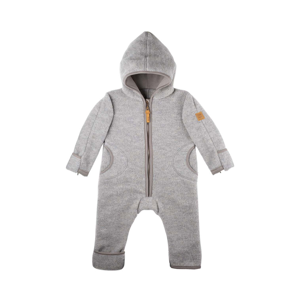 Organic Merino Wool Baby Bunting Color: 932 moon rock