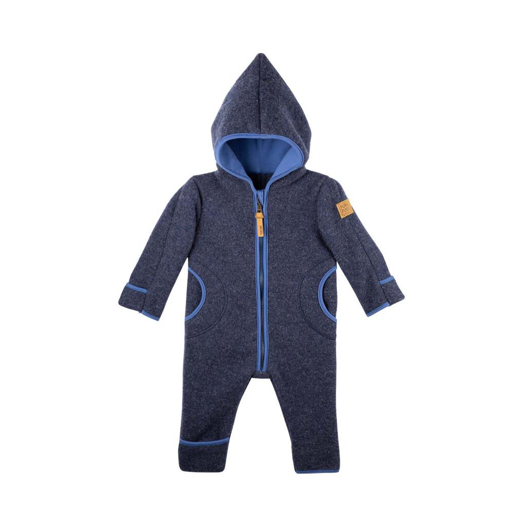 Organic Merino Wool Baby Bunting Color: 35 jeans