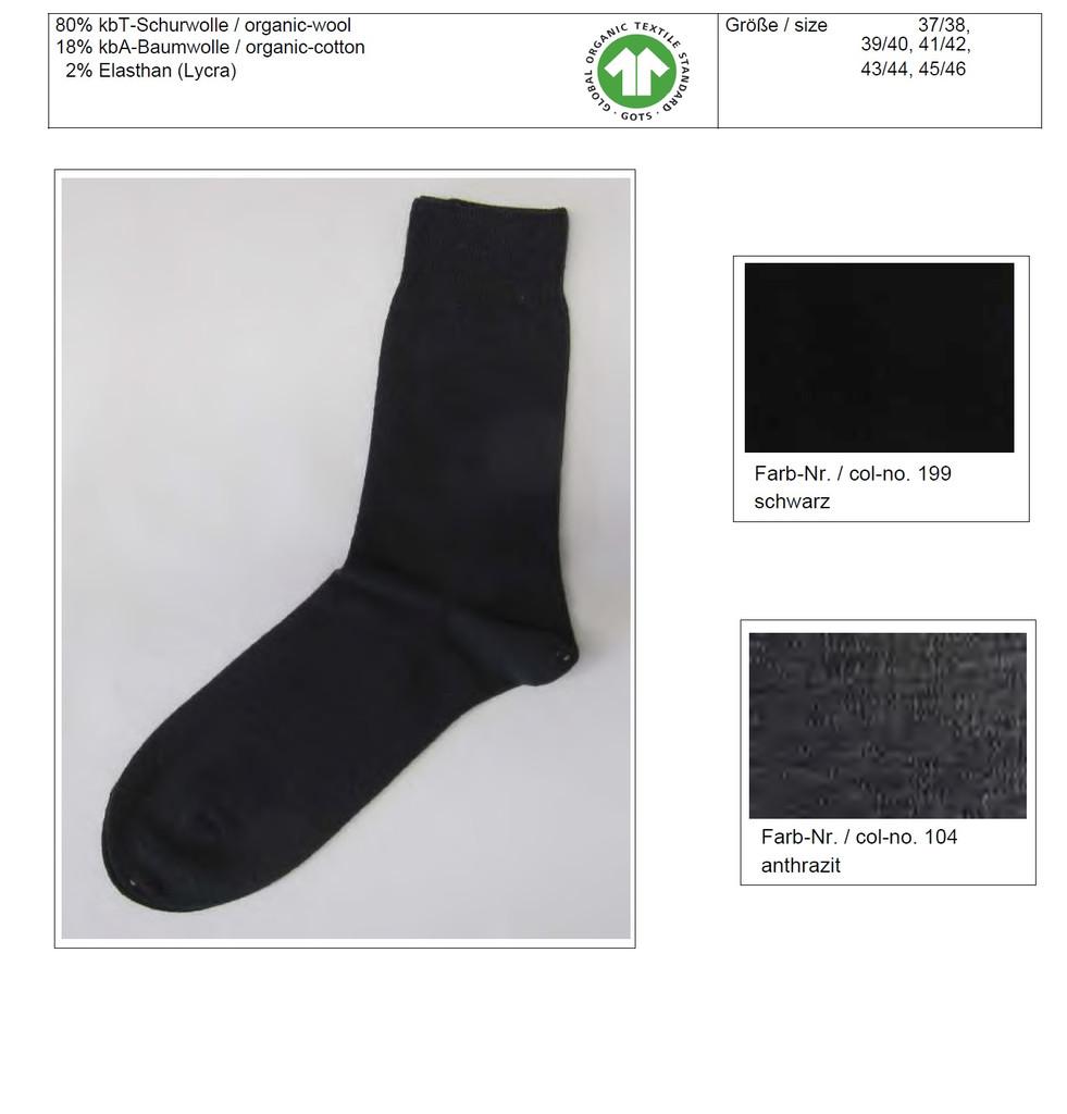 Organic Wool Cotton Unisex Socks