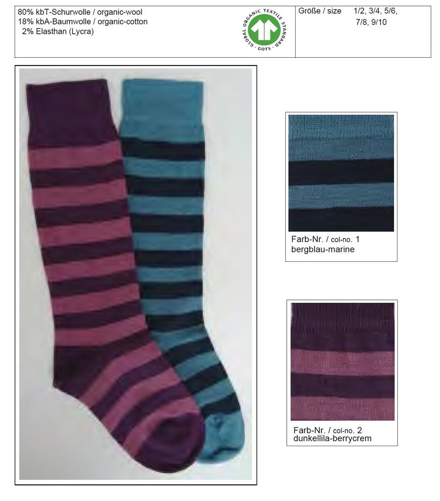 Organic Wool Cotton Kids Knee High Socks