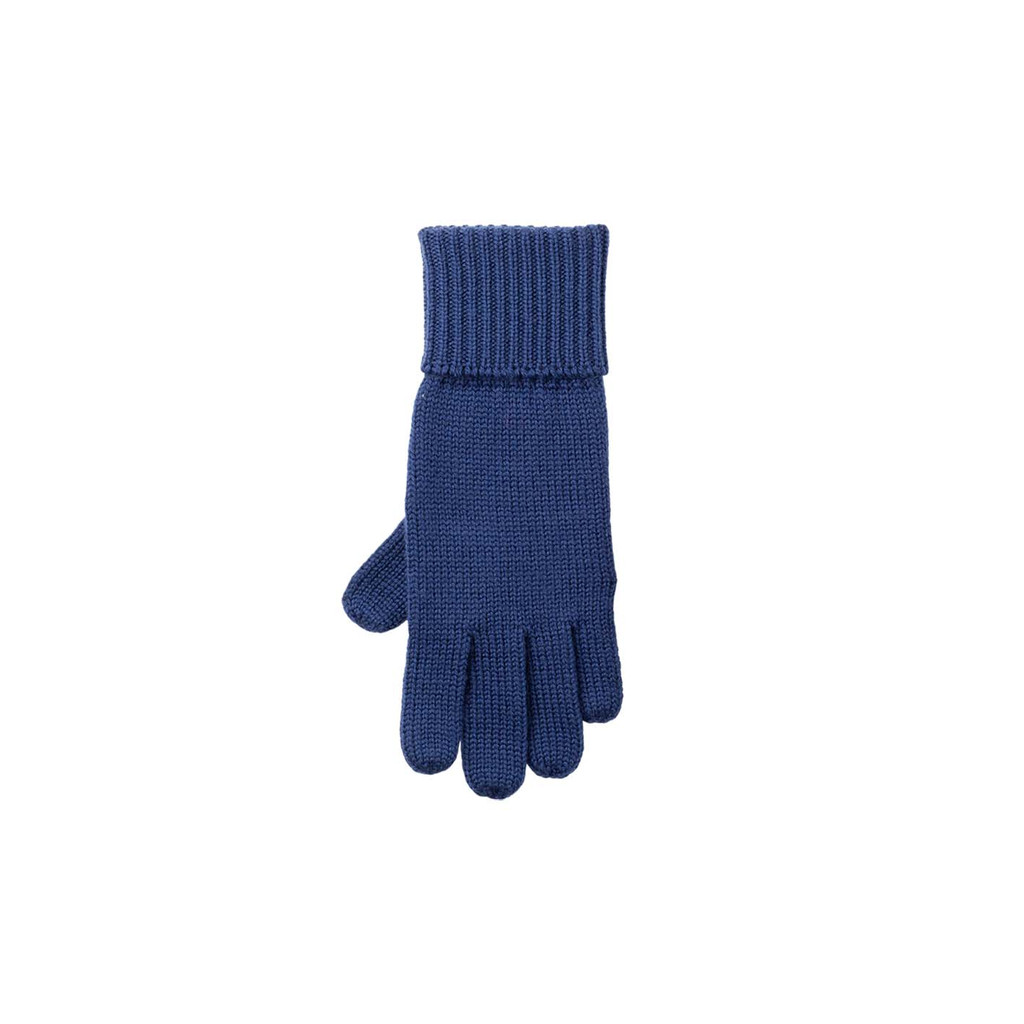 Kids Organic Wool Gloves Color: 321 nautic blue