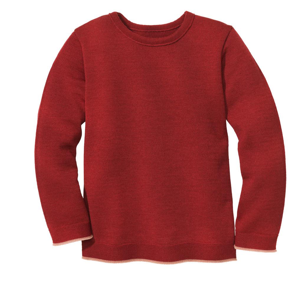 Disana Organic Wool Basic Lightweight Sweater Color: 398 Bordeaux