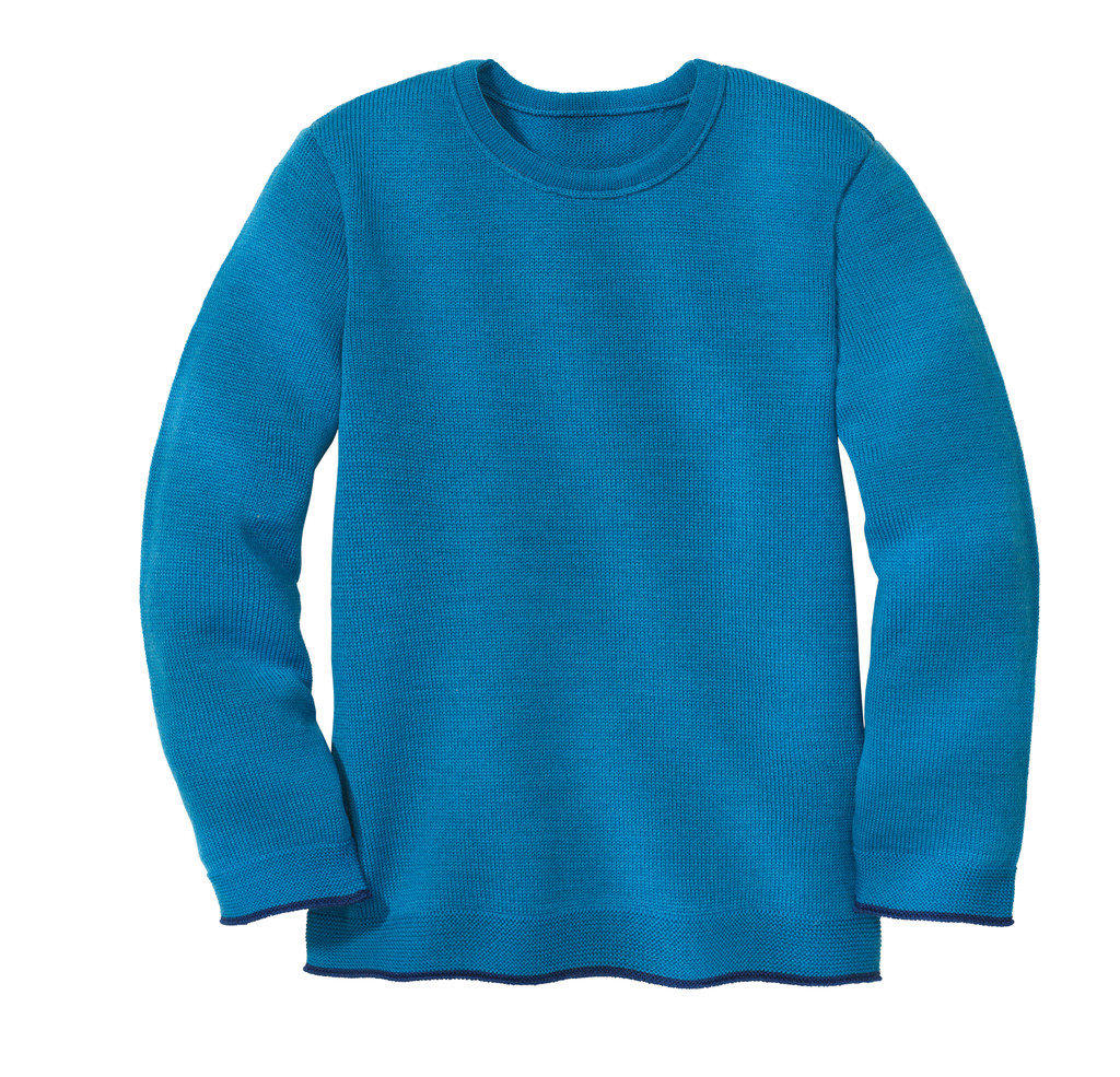 Disana Organic Wool Basic Lightweight Sweater Color: 222 Blue