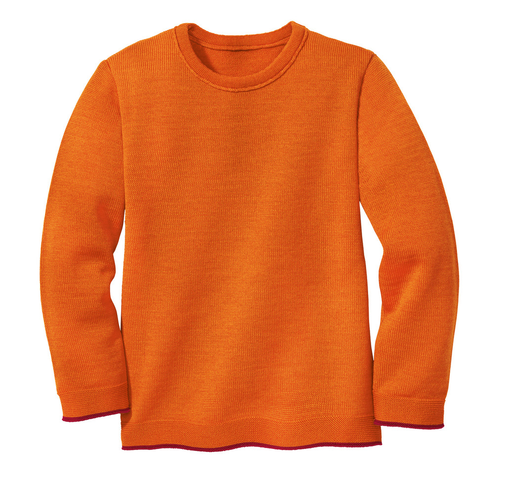 Disana Organic Wool Basic Lightweight Sweater Color: 771 Orange