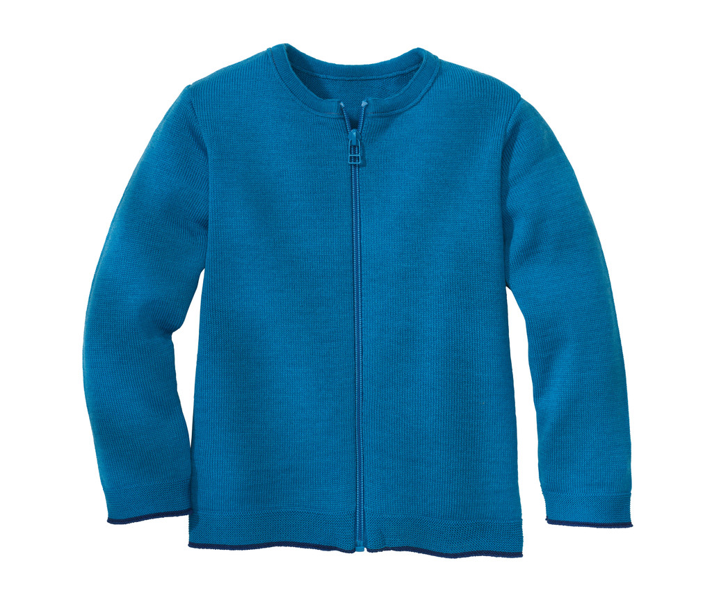 Disana Organic Wool Lightweight Cardigan Jacket Color: 222 Blue