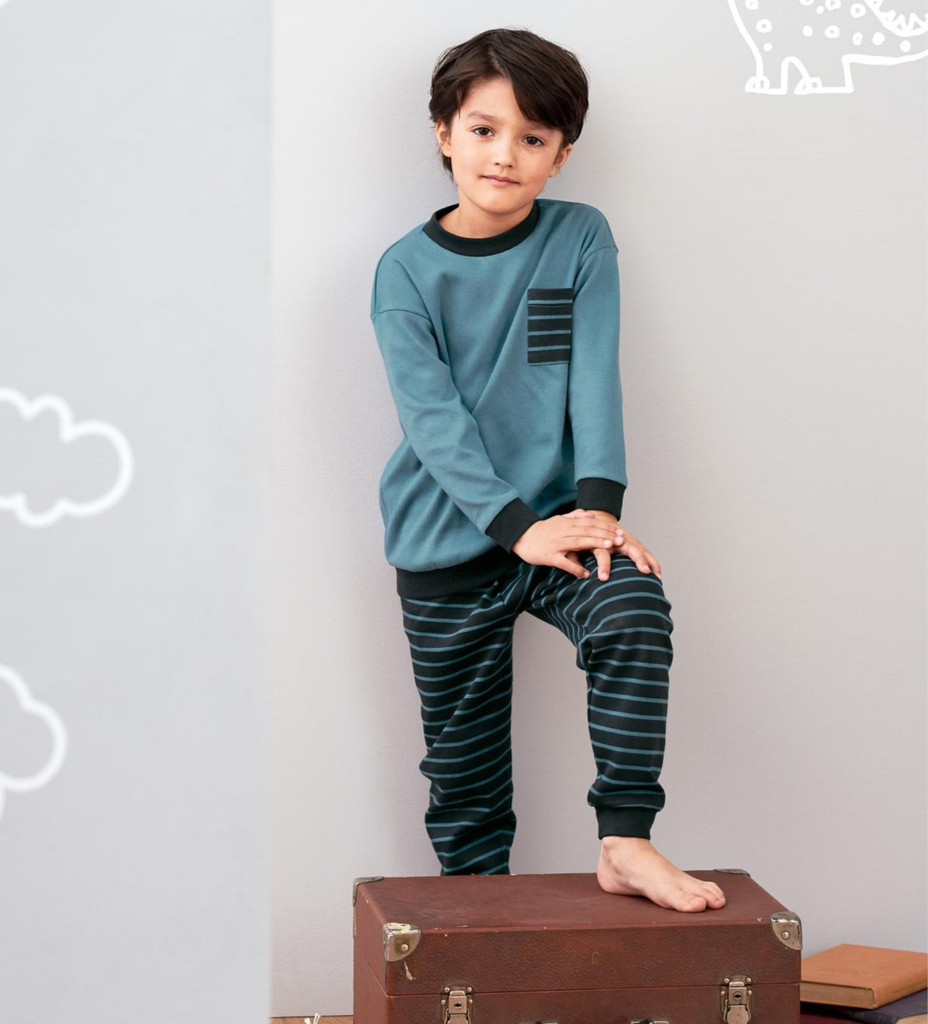 Organic Cotton Shirt and Pants Set for Children