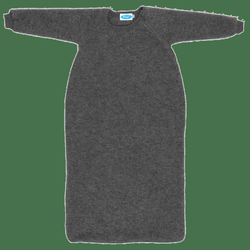 Organic Wool Fleece Long-Sleeved Sleep Sack Color: Slate Grey
