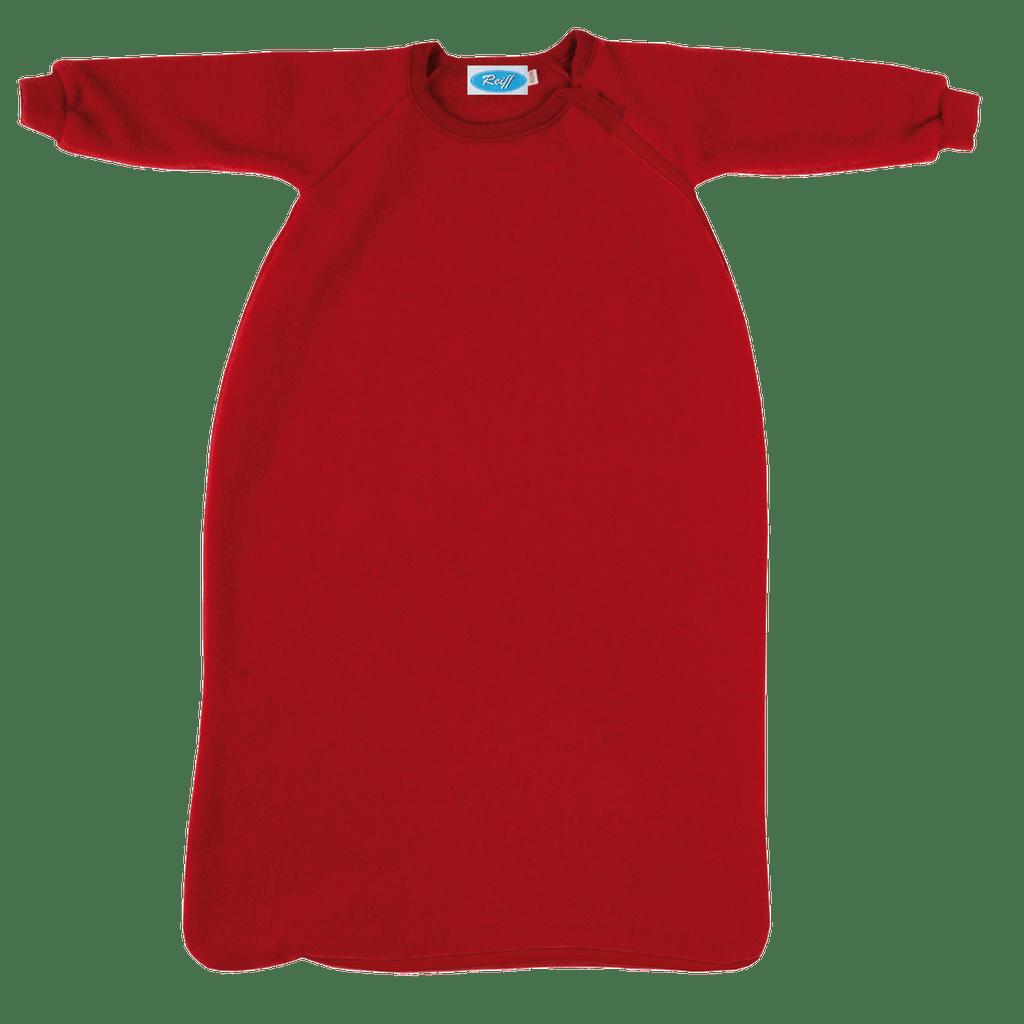 Organic Wool Fleece Long-Sleeved Sleep Sack Color: Burgundy Red