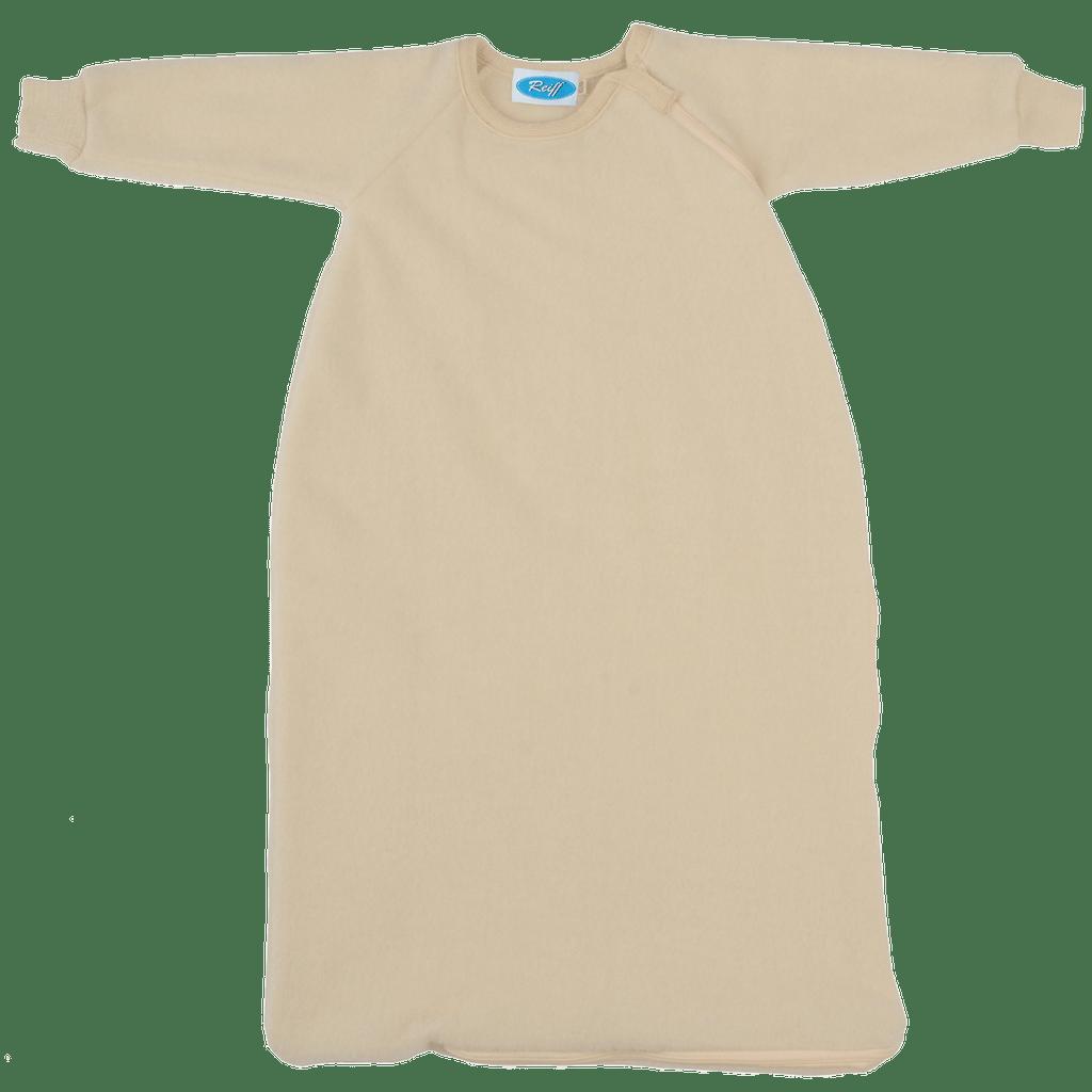 Organic Wool Fleece Long-Sleeved Sleep Sack Color: Natural