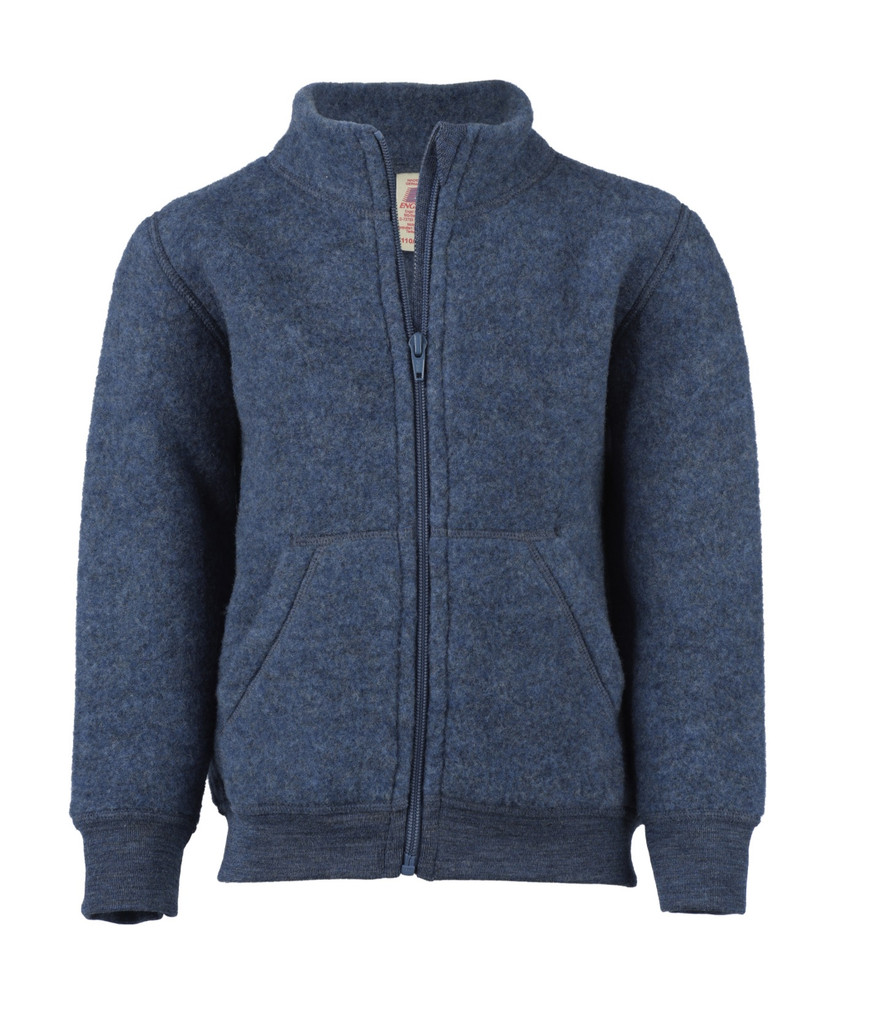 Baby zip Jacket Organic Wool Fleece