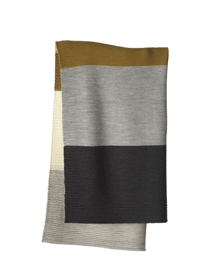 Disana Striped Knitted Blanket Color: