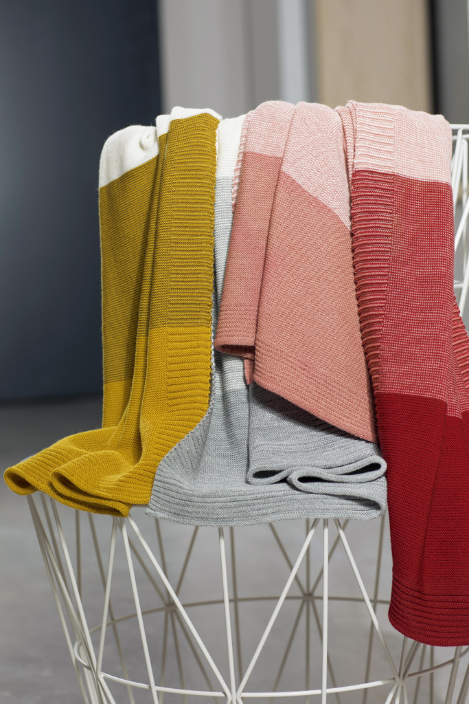 Disana Striped  Knitted Blanket