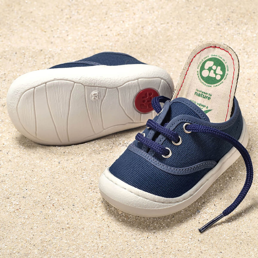 Organic Cotton Vegan Sneaker Color: Blue