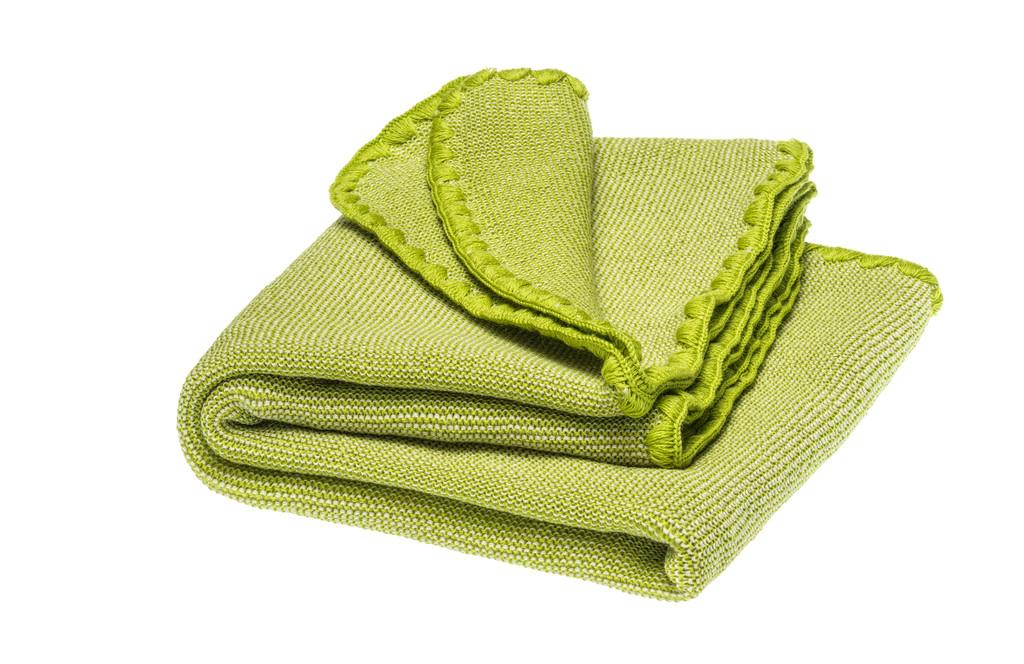 Disana Organic Wool Summer Blanket Color: 915 natural- granny smith