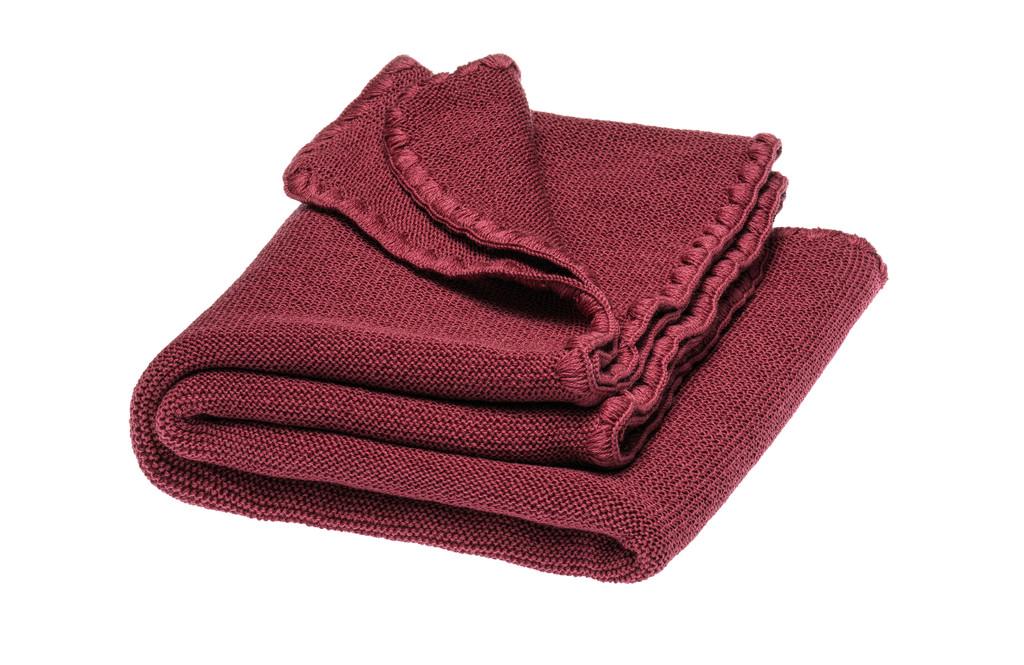 Disana Organic Wool Summer Blanket Color:  366 dry rose