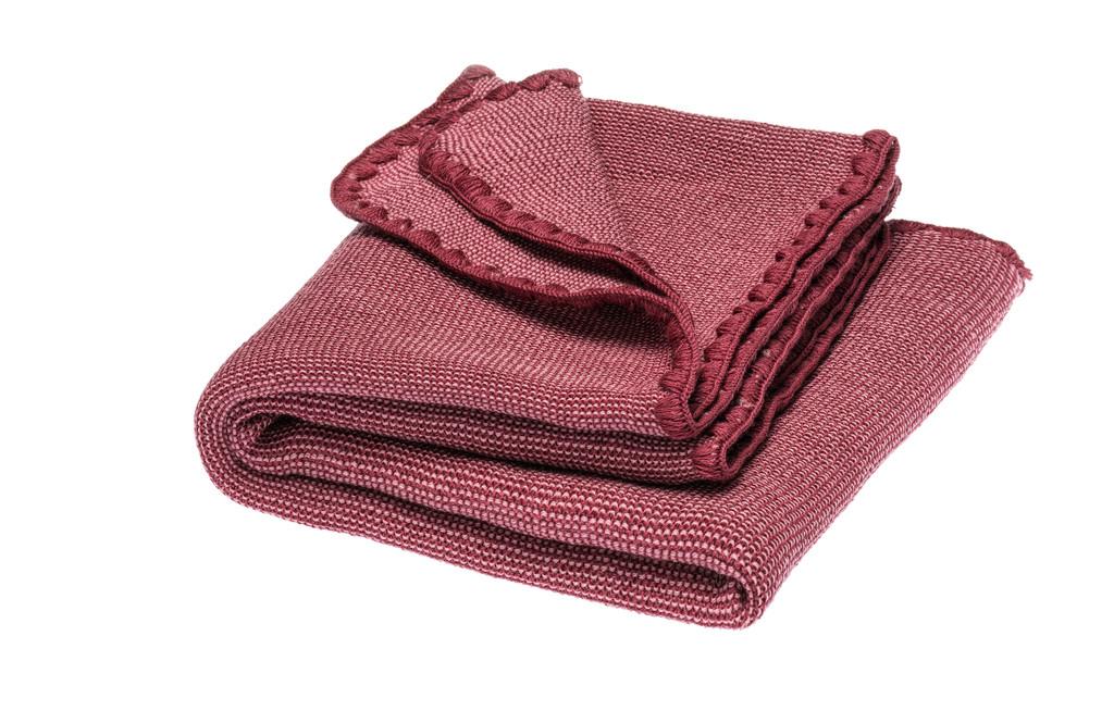 Disana Organic Wool Summer Blanket Color: 936 raspberry yoghurt- dry rose