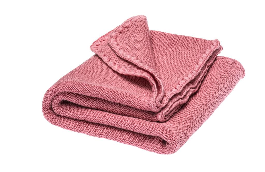 Disana Organic Wool Summer Blanket Color: 316 raspberry yoghurt