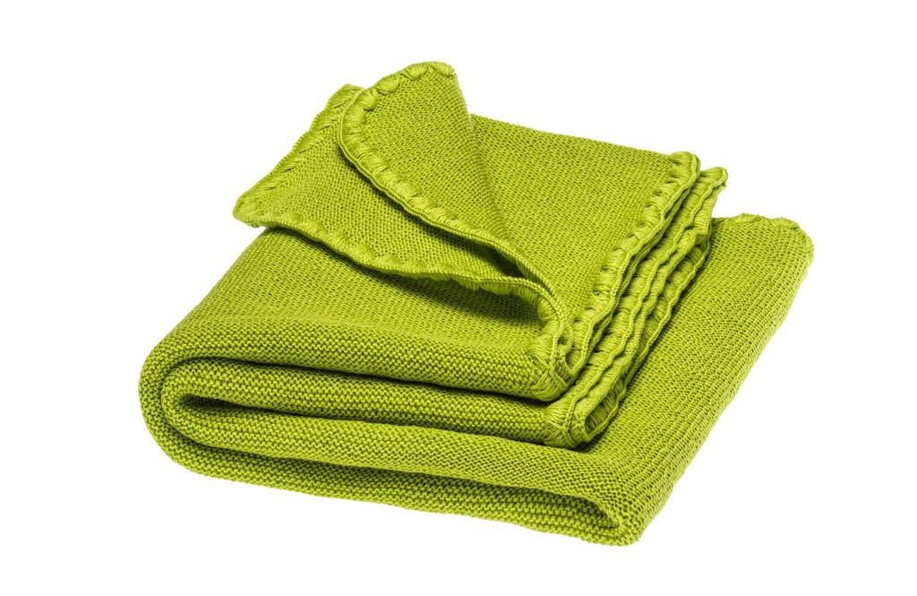 Disana Organic Wool Summer Blanket Color: 521 granny smith
