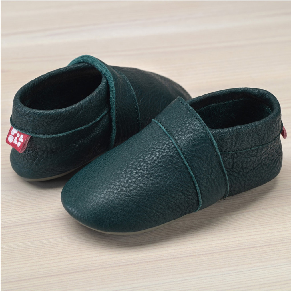 Slippers with insoles Color: Dark Green