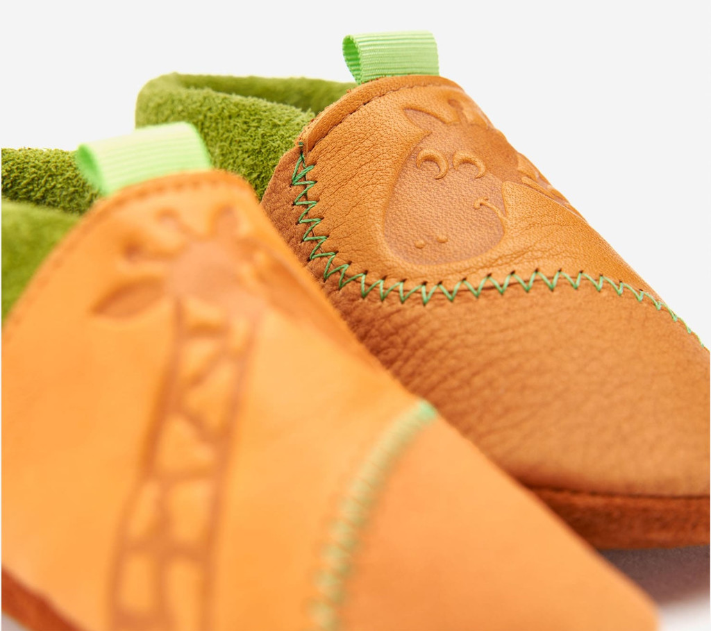 Handmade Natural Leather Soft-Soled Indoor Slippers